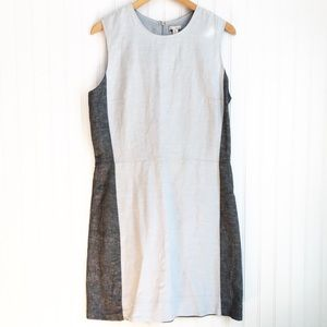 Gap Colorblock Linen Sleeveless Sheath Dress